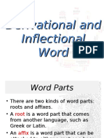 Derivational-Inflectional