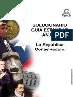 Solucionario Clase  La República Conservadora