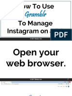How to Use Gramblr to Manage Instragram on a PC