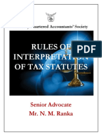 Interpretation of Statutes-BCAS