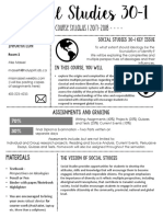 social 30-1 syllabus