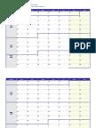2017 Weekly Calendar Monday