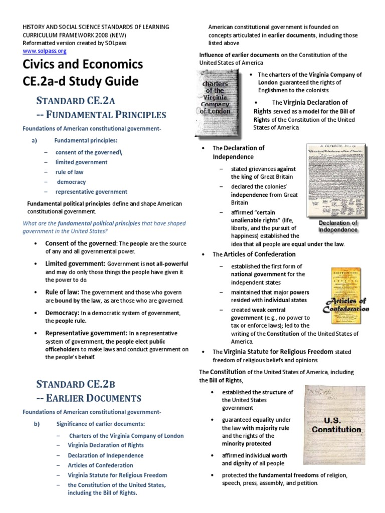 civics full study guide | Federal Government Of The United States | United  States Constitution