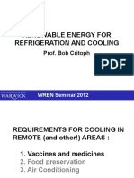 Lecture on Solar Cooling TechnologiesSOLAR COOLING