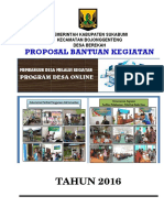 Proposal Desa Online Berekah 2016