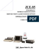 JUE-85 SSAS Option Operation Manual 7ZPSC0201