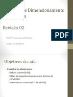 Aula 02 Converso e Dimensionamento de Reatores Reviso 2