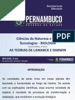 As Teorias de Lamarck e Darwin