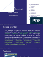 Course Overview CSC 1707 Maths for Computing