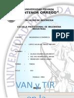 Monografía VAN y TIR