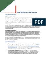 FPL DACA Repeal Message Memo