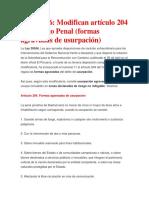 Modifican artículo 204  USURPACIÓN.docx