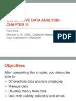 Chapter 11 Qualitative Data Analysis