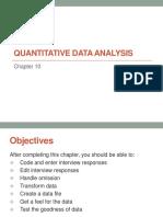 Chapter 10 Quantitative Data Analysis