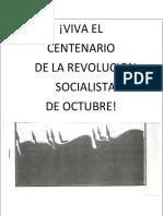1er. Centenario de La Revolución de Octubre
