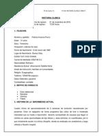 HISTORIA CLINICA Cama 41 Mujeres ( Pancreatitis)