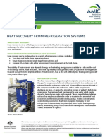 Heat Recovery From Refrigeration Systems