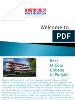 Best M.com College in Punjab