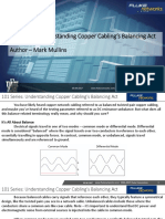 101 Series Understanding Copper Cabling's Balancing Act