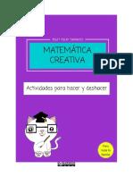 Matemática Creativa Por Tsut Tsuy Tamayo