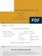 Building and Maintaining SOC