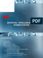 Artificial Intelligence in Power System