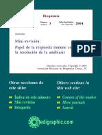 Papel de La Respuesta Inmune Celular en La Resolucion de Las Amibiasis