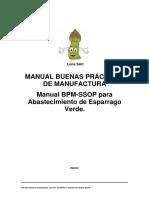 Manual Buenas Practicas de Manufactura Esparrago Verde