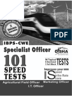 101 Speed Tests for IBPS CWE Bank Specialist Officer Exam with Success Guarantee .pdf