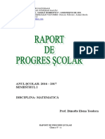 Raport Progres Scolar