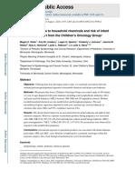 Maternal Exposure Risk Leukemia