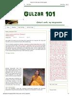 Gulzar 101_ Qatra-qatra Milti Hai (Ijaazat)