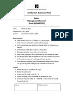 University of Amsterdam_Exam Management Control