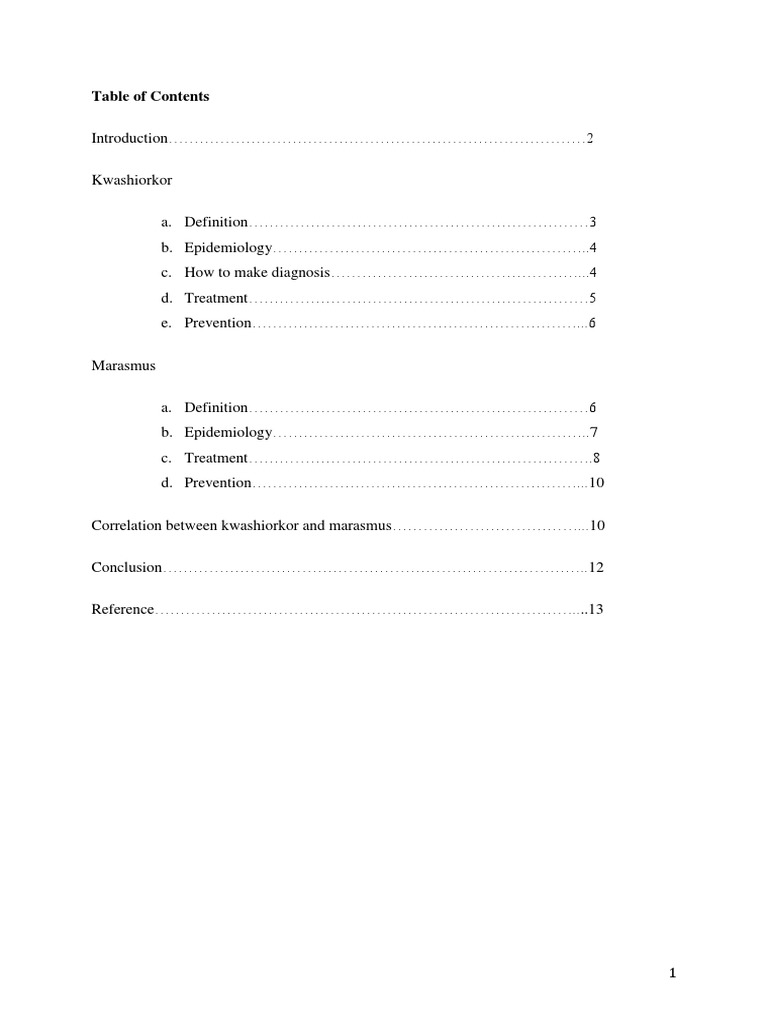 The Correlation Between Kwashiorkor And Marasmus Paper Bahasa