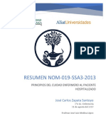 Resumen de la Norma Oficial Mexicana 019 SSA3 2013