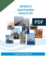 SBM Offshore 2009 Analyst Presentation February 26, 2010