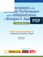 Assessment of Econonomic Performance of Aquino 2016