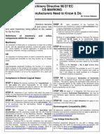 Machinery Directive 98 37 EC