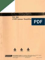Racal TA944 Amplifier Manual