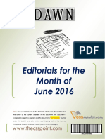 DAWN Editorials - June 2016