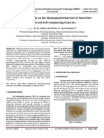 Experimental Study on the Mechanical Behaviour of Sisal Fibre Reinforced Self-Compacting Concrete
