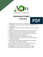 20160917 Rassegna Stampa