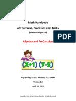 Algebra Handbook