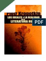 LOS IDEALES Y LA REALIDAD EN LA LITERATURA RUSA (Piotr Kropotkin)