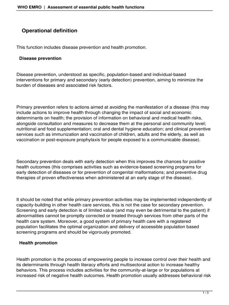 Health Promotion Disease Prevention   Preventive Healthcare