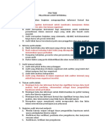 Jawaban Pre Test Audit Internal