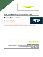 TALIS 2008 Teacher Questionnaire