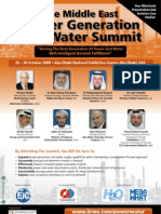The Middle East Power Generation and Water Summit