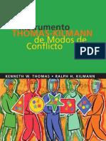 Test Estilo de Afrontamiento Del Conflicto - Kilmann