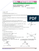 9th Maths 2016-17 Sa-1 Orignal Question Paper - 1
